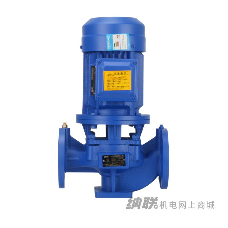 纳联机电 管道泵-IRG50-100(I)A-1.1三相